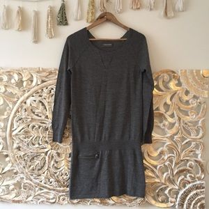 Zadig & Voltaire Distressed Gray Sweater Dress